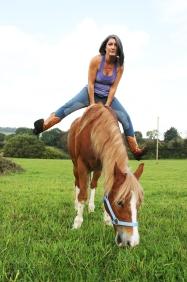 Arm balance horseback yoga