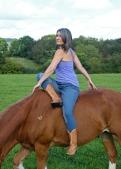 One Leg Garland Horseback