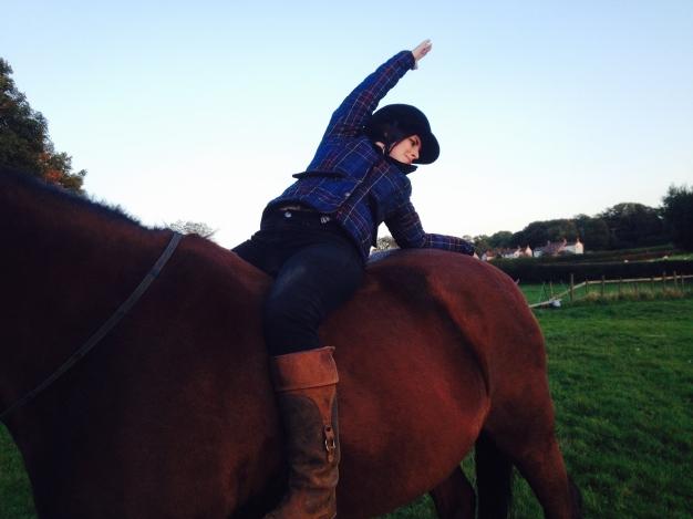 Helena Horseback Yoga Twist 2